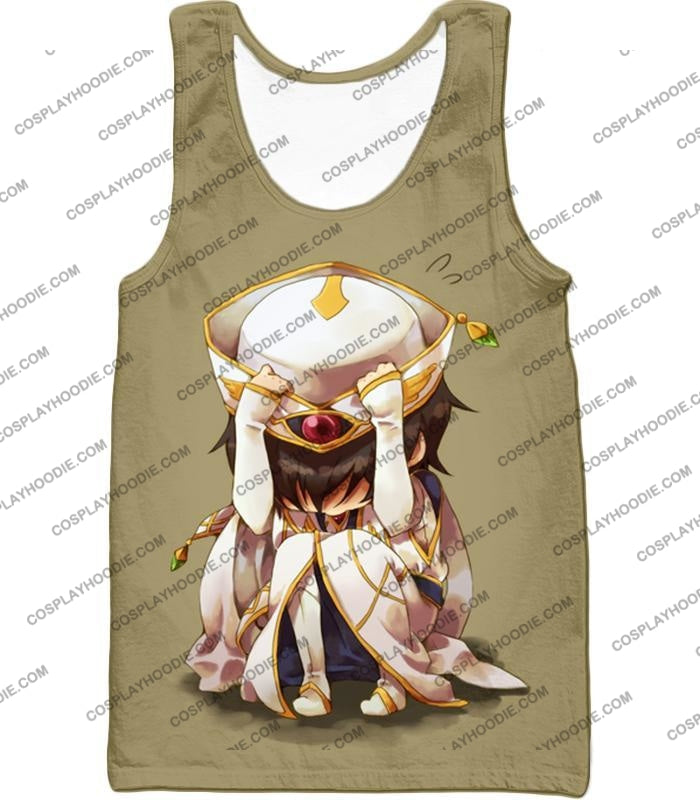 Code Geass Child Hero Prince Lelouch Vi Britannia Cool Grey Poster T-Shirt Cg027 Tank Top / Us Xxs