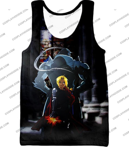 Image of Fullmetal Alchemist Always Together Brothers Edward X Alphonse Super Cool Anime Pose T-Shirt Fa027