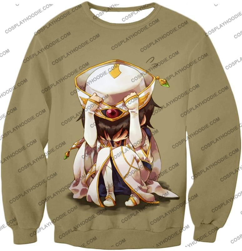 Code Geass Child Hero Prince Lelouch Vi Britannia Cool Grey Poster T-Shirt Cg027 Sweatshirt / Us Xxs