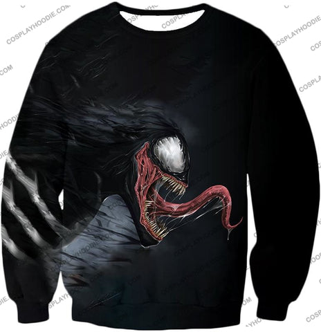 Alien Symbiotic Life Form Venom Black T-Shirt Ve027 Sweatshirt / Us Xxs (Asian Xs)