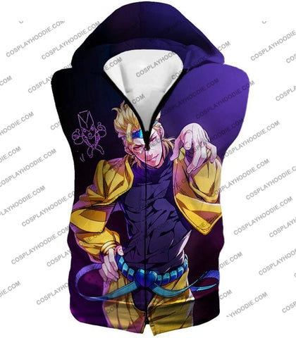 Image of Jojos Adventure C Stardust Crusaders Dio Anime T-Shirt Jo027 Hooded Tank Top / Us Xxs (Asian Xs)