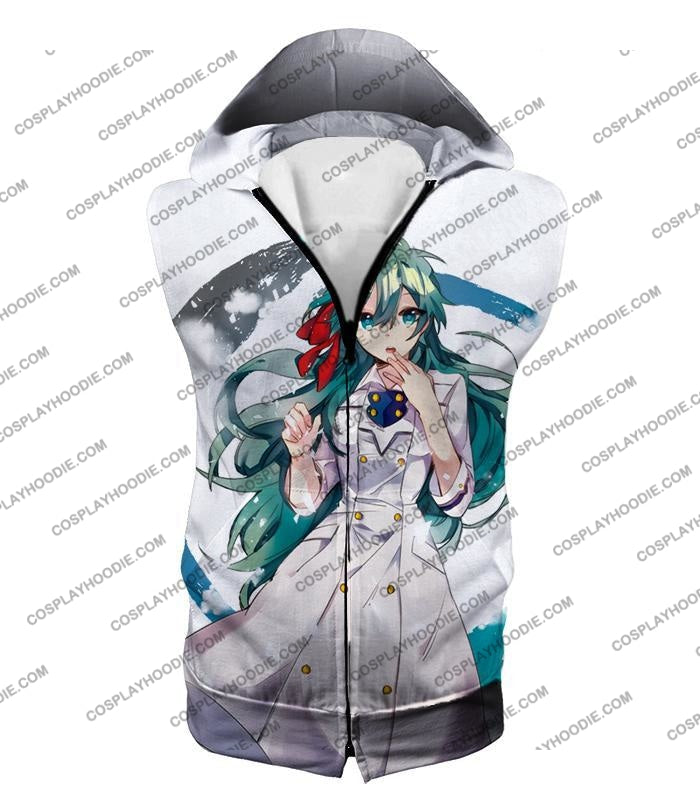 My Hero Academia Cute Blue Haired Anime Girl Super Cool White T-Shirt Mha077 Hooded Tank Top / Us