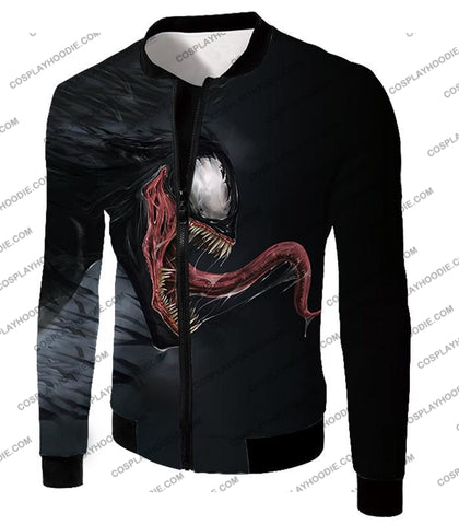 Alien Symbiotic Life Form Venom Black T-Shirt Ve027 Jacket / Us Xxs (Asian Xs)
