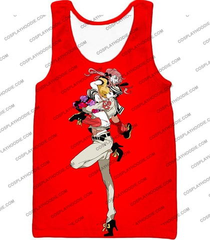 Image of Jojolion C Josuke Higashikata X Yasuho Hirose Red Anime T-Shirt Jo028 Tank Top / Us Xxs (Asian Xs)