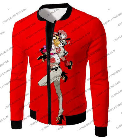 Image of Jojolion C Josuke Higashikata X Yasuho Hirose Red Anime T-Shirt Jo028 Jacket / Us Xxs (Asian Xs)