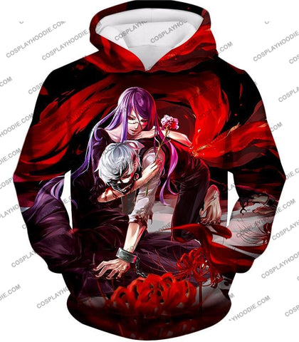 Image of Tokyo Ghoul Two Souls Rize And Kaneki Amazing Anime Graphic T-Shirt Tg079 Hoodie / Us Xxs (Asian Xs)