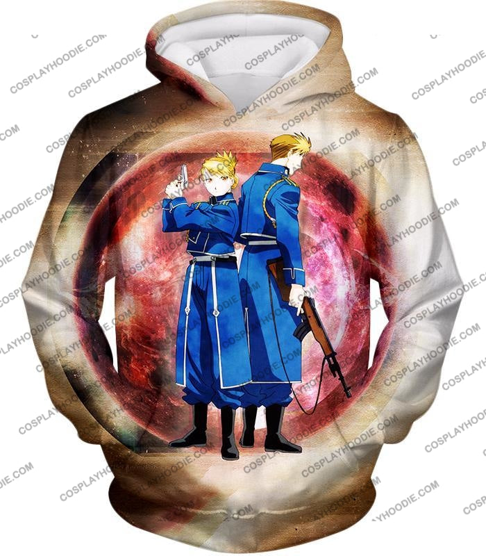 Fullmetal Alchemist Super Cool Military Personnel Riza Hawkeye X Jean Havoc Awesome Anime T-Shirt