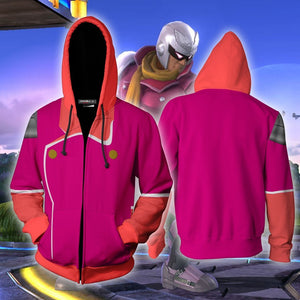 Captain Falcon Pink Hoodie Cosplay Jacket Zip Up