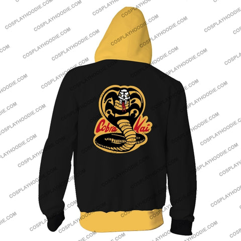 Cobra Kai No Mercy Hoodie Cosplay Jacket Zip Up