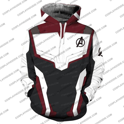 The Avengers 4 Avengers: Endgame Quantum Suits White Suit Hoodie Cosplay Jacket Zip Up