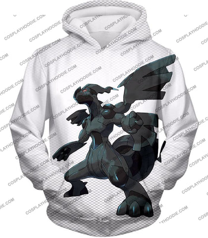 Image of Pokemon Awesome Legendary Zekrom Black And White Series T-Shirt Pkm003 Hoodie / Us Xxs (Asian Xs)
