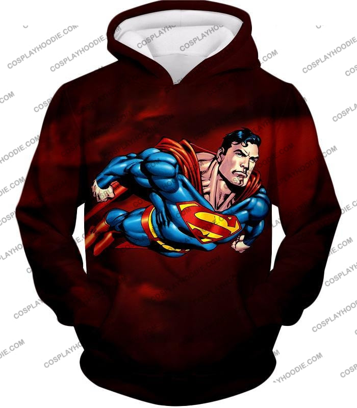 Faster Than A Missile Ultimate Superhero Superman Animated Action T-Shirt Su003 Hoodie / Us Xxs