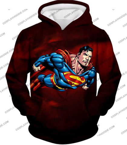Image of Faster Than A Missile Ultimate Superhero Superman Animated Action T-Shirt Su003 Hoodie / Us Xxs