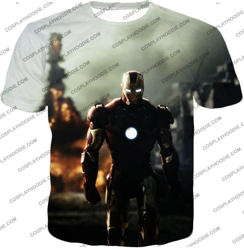 Best Avenger Iron Man Hd Action Print T-Shirt Im003 / Us Xxs (Asian Xs)