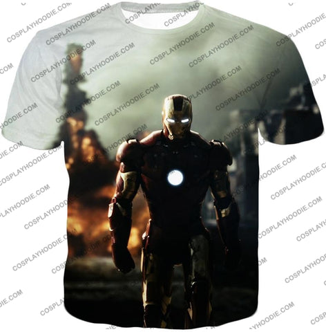 Image of Best Avenger Iron Man Hd Action Print T-Shirt Im003 / Us Xxs (Asian Xs)
