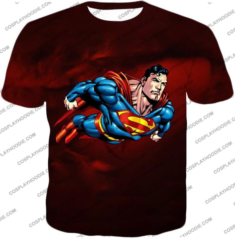 Image of Faster Than A Missile Ultimate Superhero Superman Animated Action T-Shirt Su003 / Us Xxs (Asian Xs)
