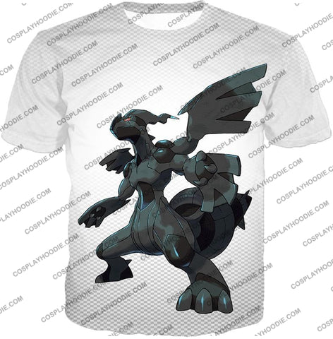 Image of Pokemon Awesome Legendary Zekrom Black And White Series T-Shirt Pkm003 / Us Xxs (Asian Xs)