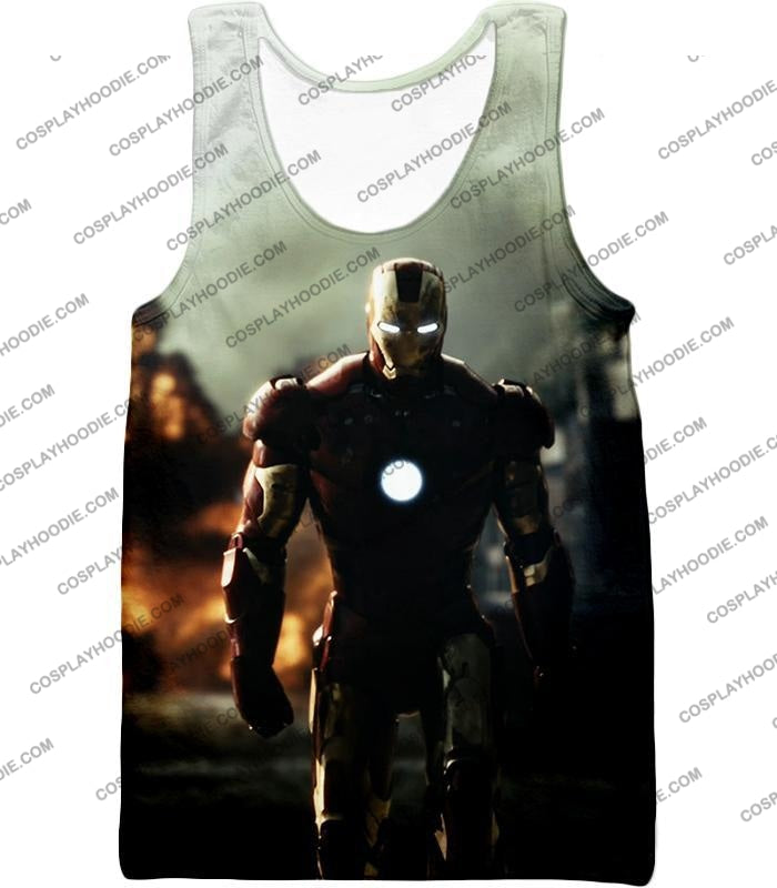 Best Avenger Iron Man Hd Action Print T-Shirt Im003 Tank Top / Us Xxs (Asian Xs)