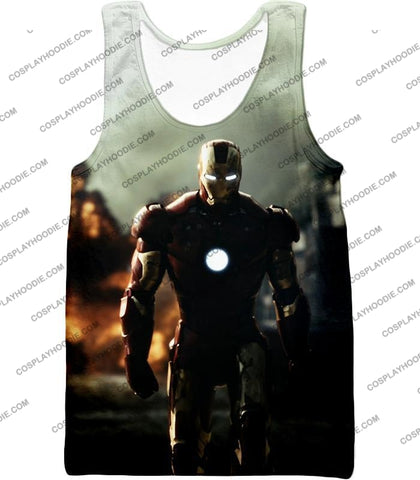 Image of Best Avenger Iron Man Hd Action Print T-Shirt Im003 Tank Top / Us Xxs (Asian Xs)