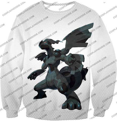 Image of Pokemon Awesome Legendary Zekrom Black And White Series T-Shirt Pkm003 Sweatshirt / Us Xxs (Asian
