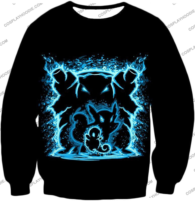 Pokemon Blastoise Evolution Water Art Black Anime T-Shirt Pkm153 Sweatshirt / Us Xxs (Asian Xs)