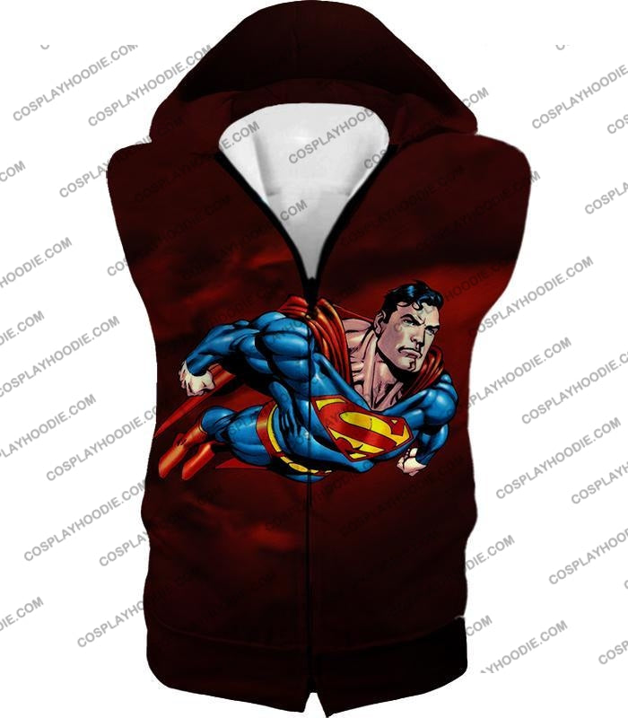 Faster Than A Missile Ultimate Superhero Superman Animated Action T-Shirt Su003 Hooded Tank Top / Us