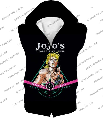Image of Dio Brando The Evil Incarnation Black Anime T-Shirt Jo003 Hooded Tank Top / Us Xxs (Asian Xs)