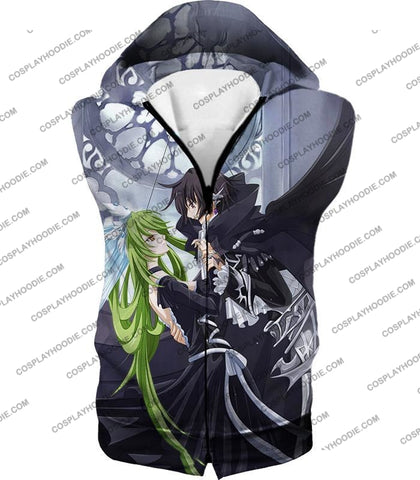 Image of Code Geass Anime Couples Lelouch X C.c. Cute Graphic T-Shirt Cg003 Hooded Tank Top / Us Xxs (Asian
