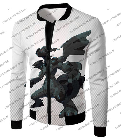 Image of Pokemon Awesome Legendary Zekrom Black And White Series T-Shirt Pkm003 Jacket / Us Xxs (Asian Xs)