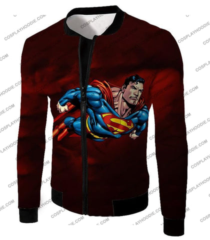 Image of Faster Than A Missile Ultimate Superhero Superman Animated Action T-Shirt Su003 Jacket / Us Xxs