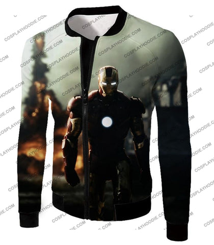 Image of Best Avenger Iron Man Hd Action Print T-Shirt Im003 Jacket / Us Xxs (Asian Xs)