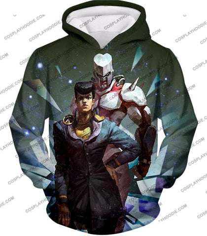Image of Jojos Diamond Is Unbreakable C Josuke Higashikata X Crazy Graphic T-Shirt Jo030 Hoodie / Us Xxs
