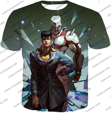 Image of Jojos Diamond Is Unbreakable C Josuke Higashikata X Crazy Graphic T-Shirt Jo030 / Us Xxs (Asian Xs)