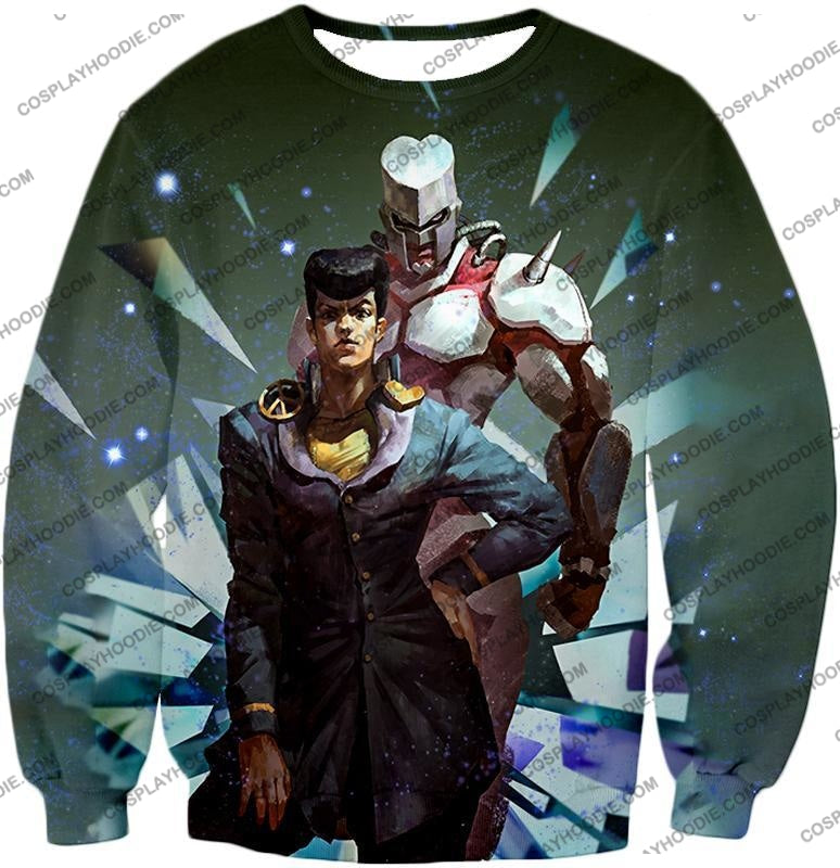 Jojos Diamond Is Unbreakable C Josuke Higashikata X Crazy Graphic T-Shirt Jo030 Sweatshirt / Us Xxs