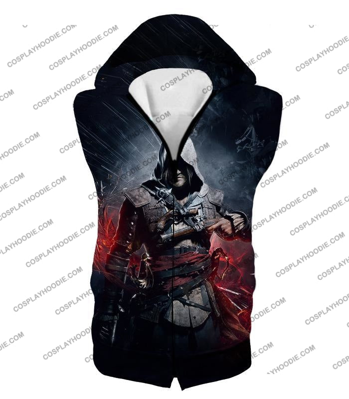 Edward James Kenway Incredible Black Flag Assassin Promo T-Shirt Ac030 Hooded Tank Top / Us Xxs
