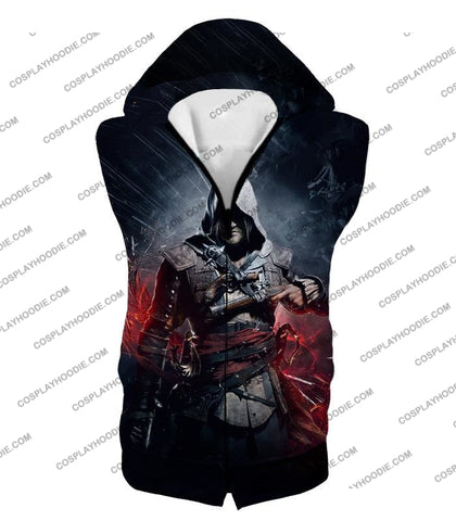 Image of Edward James Kenway Incredible Black Flag Assassin Promo T-Shirt Ac030 Hooded Tank Top / Us Xxs