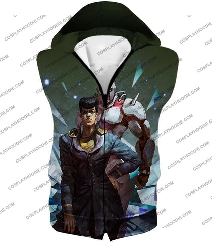 Image of Jojos Diamond Is Unbreakable C Josuke Higashikata X Crazy Graphic T-Shirt Jo030 Hooded Tank Top / Us