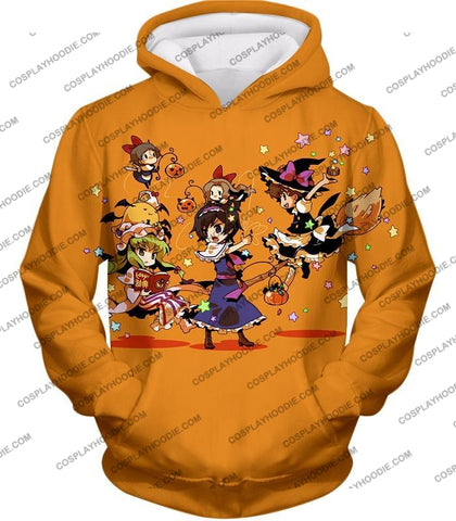 Image of Code Geass Super Cute Anime Promo Cool Orange T-Shirt Cg031 Hoodie / Us Xxs (Asian Xs)