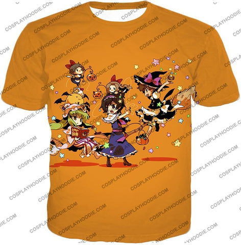 Image of Code Geass Super Cute Anime Promo Cool Orange T-Shirt Cg031 / Us Xxs (Asian Xs)