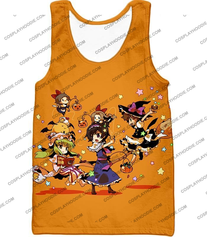 Code Geass Super Cute Anime Promo Cool Orange T-Shirt Cg031 Tank Top / Us Xxs (Asian Xs)