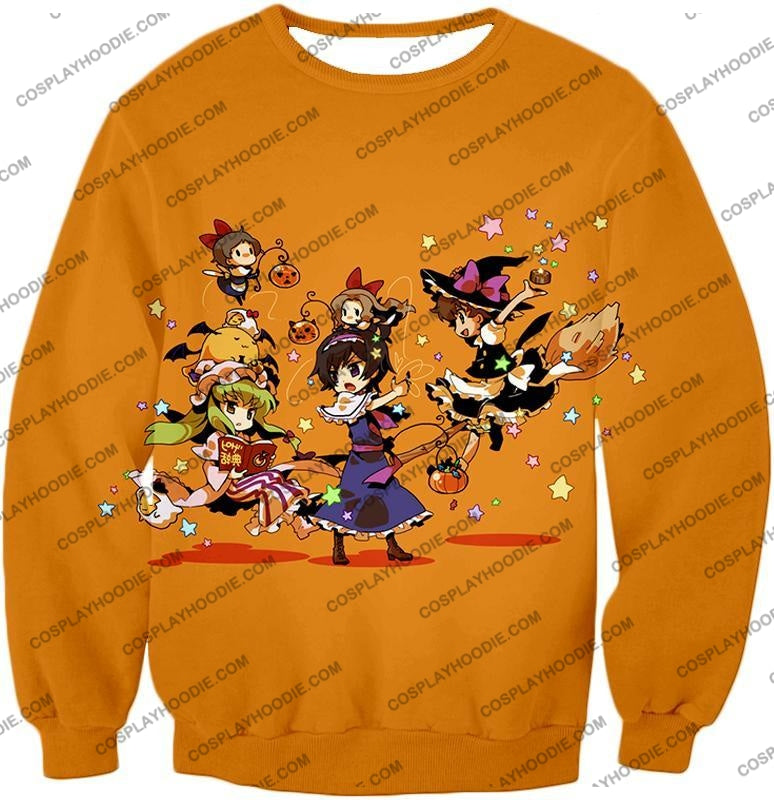 Code Geass Super Cute Anime Promo Cool Orange T-Shirt Cg031 Sweatshirt / Us Xxs (Asian Xs)