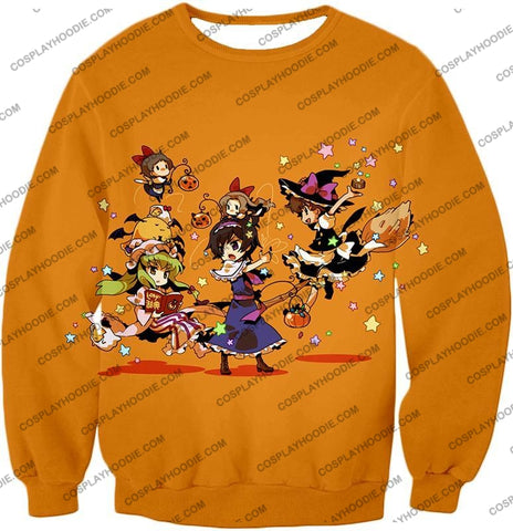 Image of Code Geass Super Cute Anime Promo Cool Orange T-Shirt Cg031 Sweatshirt / Us Xxs (Asian Xs)