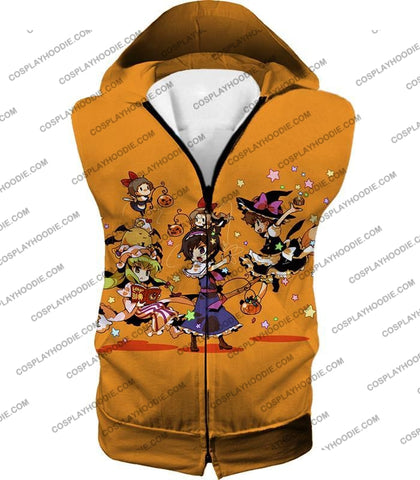 Image of Code Geass Super Cute Anime Promo Cool Orange T-Shirt Cg031 Hooded Tank Top / Us Xxs (Asian Xs)