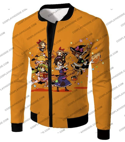 Image of Code Geass Super Cute Anime Promo Cool Orange T-Shirt Cg031 Jacket / Us Xxs (Asian Xs)