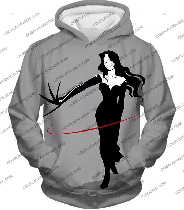 Fullmetal Alchemist Deadly Homunculi Lust Cool Anime Grey T-Shirt Fa032 Hoodie / Us Xxs (Asian Xs)