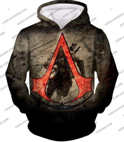 Image of Amazing Assassins Creed Iii Logo Promo Awesome Graphic T-Shirt Ac032 Hoodie / Us Xxs (Asian Xs)