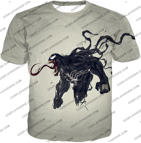 Alien Life Venom White Printed T-Shirt Ve032 / Us Xxs (Asian Xs)