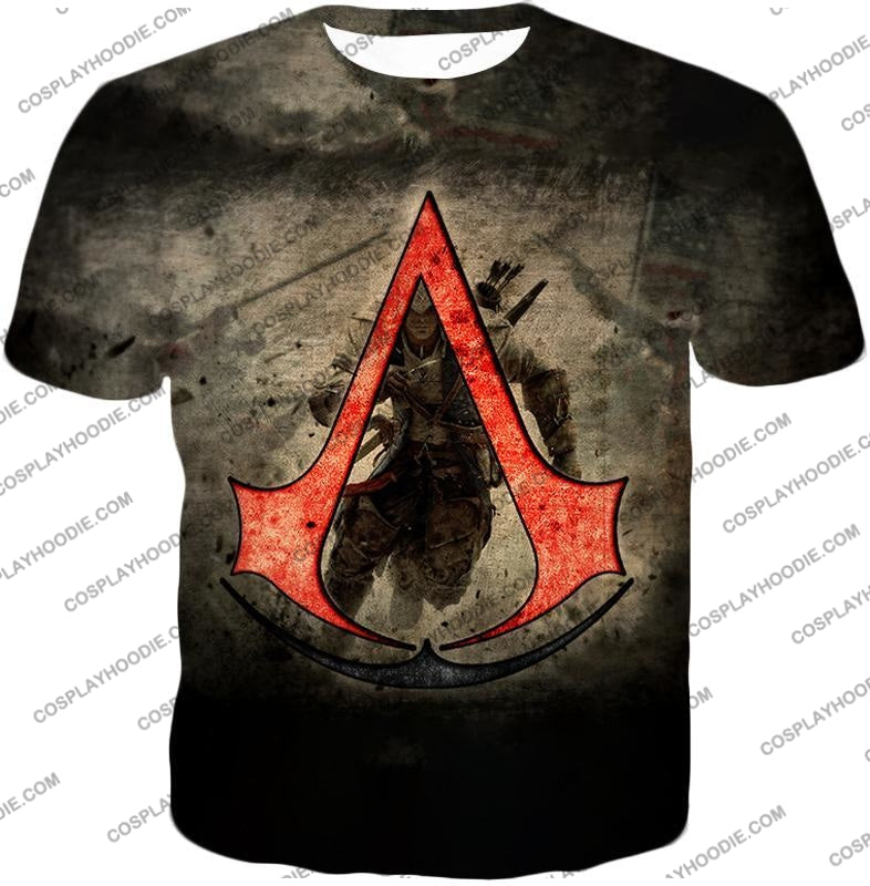 Amazing Assassins Creed Iii Logo Promo Awesome Graphic T-Shirt Ac032 / Us Xxs (Asian Xs)