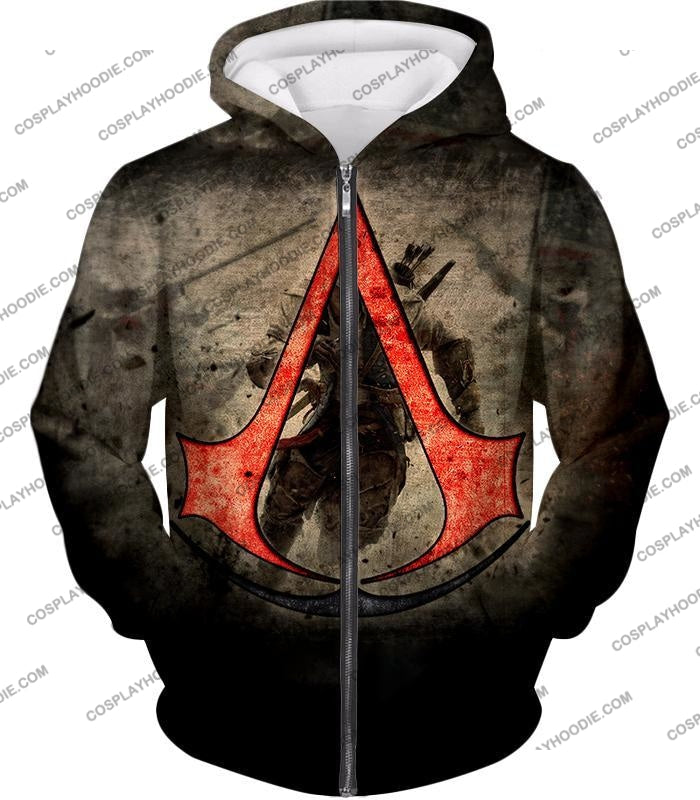 Amazing Assassins Creed Iii Logo Promo Awesome Graphic T-Shirt Ac032 Zip Up Hoodie / Us Xxs (Asian