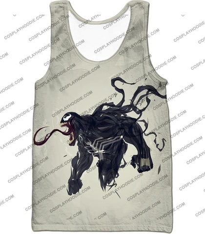 Alien Life Venom White Printed T-Shirt Ve032 Tank Top / Us Xxs (Asian Xs)